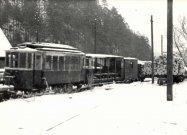 M24.003 a C/u 301 odstavené v depe v Ľubochni ( asi zima 1965/66)