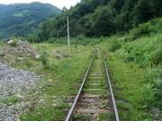 Trať povyše hajcu - veľký vyrovnaný priestor povedľa trate prezrádza, že kedysi tu bolo určite viac tratí ako dnešná jedna...