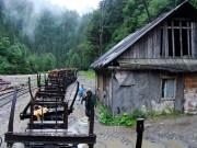 Stanica s výhybňou - miesto nakladania dreva