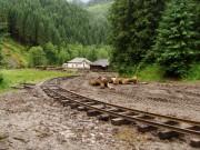 Vznikajúca odbočka - načo podbíjať drahým štrkom, keď trať sa používaním zatlačí do bahna?